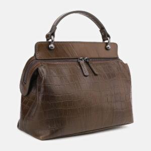 Кожаная желтовато-зелёная женская сумка ATS-5493 238153