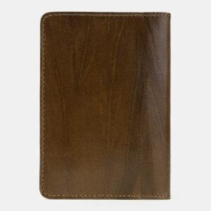 Деловая желтовато-зелёная обложка для паспорта ATS-5496 238142