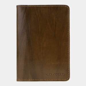 Уникальная желтовато-зелёная обложка для паспорта ATS-5496