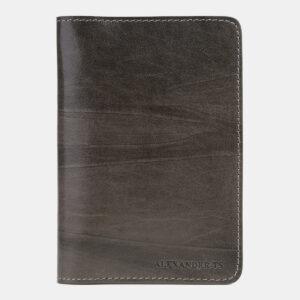 Деловая серая обложка для паспорта ATS-5497