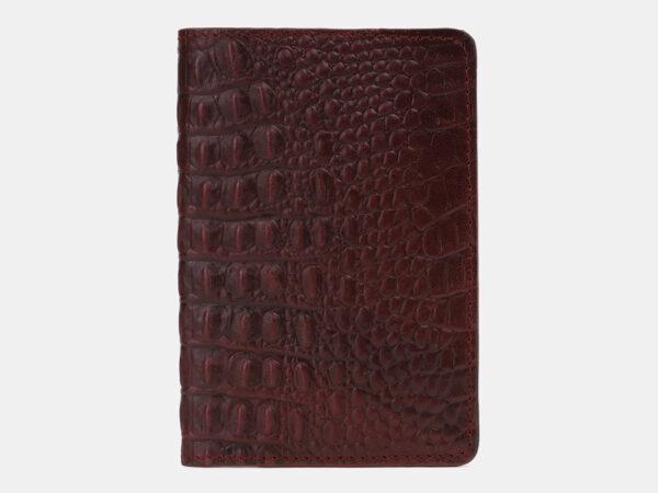 Уникальная бордовая обложка для паспорта ATS-5498