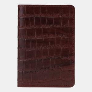 Уникальная бордовая обложка для паспорта ATS-5499